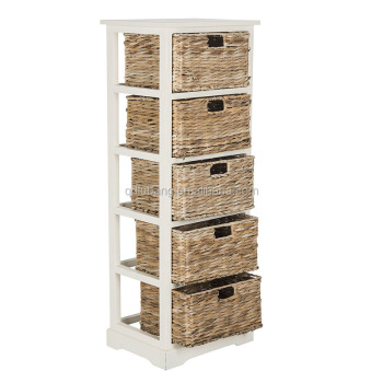 Bathroom Cabinets Wooden Storage Tower