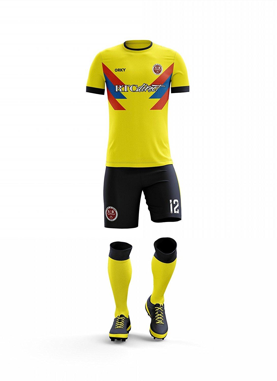 49f7bbcfa Get Quotations · ORKY Custom Soccer Uniform Colombia National Style Men Kid Soccer  Jersey Short Youth Football Team Set