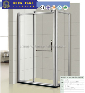 Better deals Aluminum frame simple and fashionable glass sliding shower enclosure bathroom door price