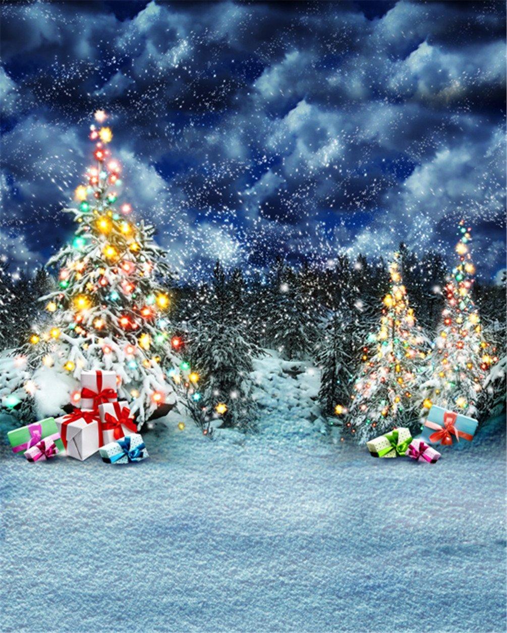 Buy Christmas Tree Photography Backdrop Winter Photo