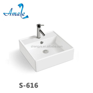 Hot Sales Bathroom up counter basin ceramic art basin sink
