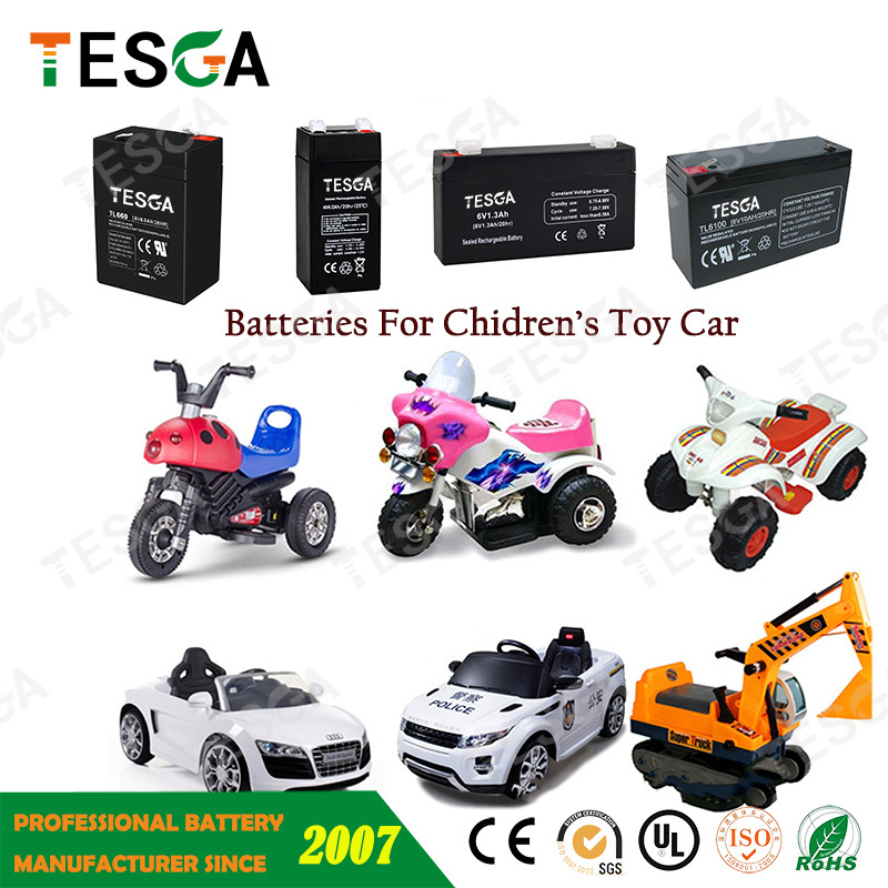 6 Volt Toy Car Batteries 6v 7amp With Sealed Lead Acid Battery For
