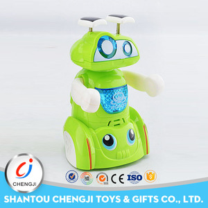 Kids educational cute plastic musical battery operated toy robot