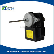 Evaporator and condenser shaded pole induction fan motor for refrigerator and freezer