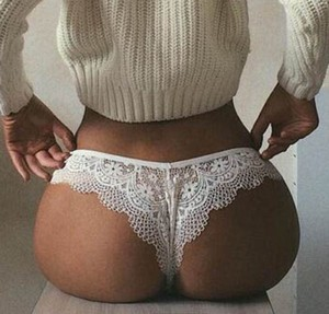 Lady Hot Hollow Out Lace Transparent Women Sexy Underwear Lingerie Panties