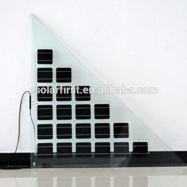 high efficiency solar double glass thin film panel for BIPV
