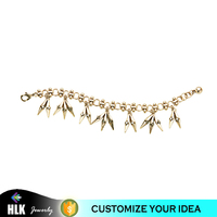 Alibaba 14 karat Gold Jewelry Wholesale Metal Geometric Pendants Korea Handmade Chain Bracelet