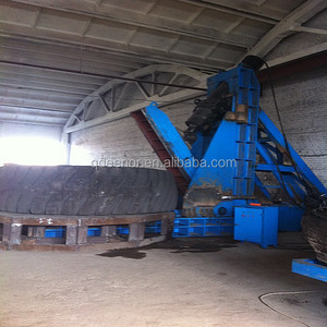 huge tire hydraulic truck tyre cutting Machine/tire cutter /waste tire recycling line