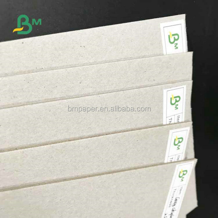 Smoothy Surface 700*1000mm 1.35mm 1.5mm 2mm Grey Chipboard For Making Packages Boxes