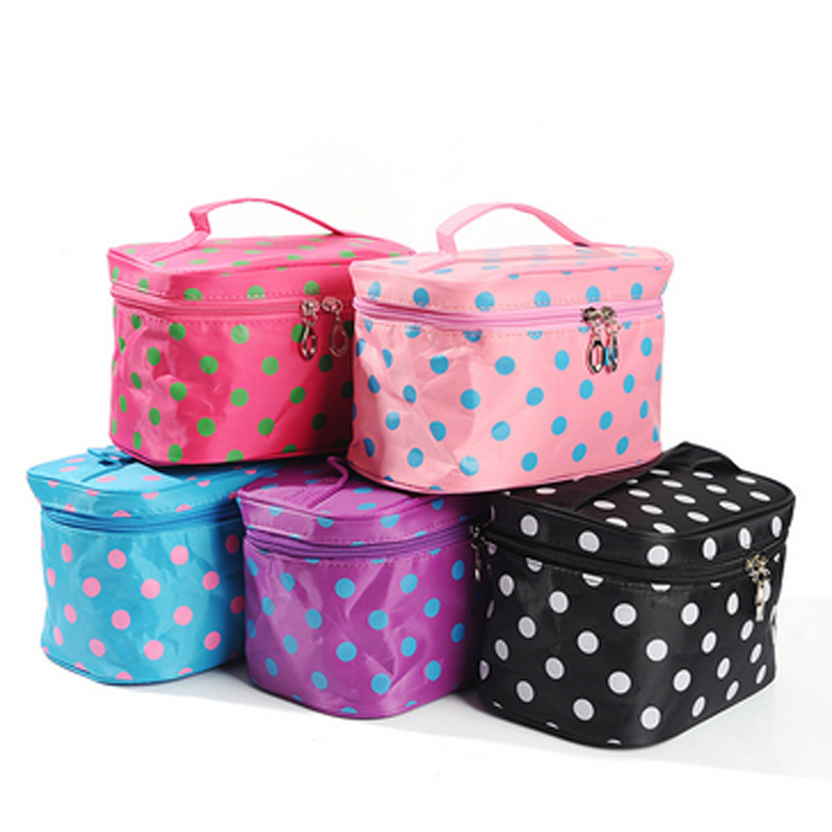 Customize Cosmetic Organizer Makeup Bag With Brush Holder