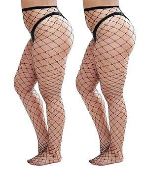 be4c3cbb5 Womem s Sexy Plain Black Fishnet Tights Plus Size Net Pantyhose Stockings