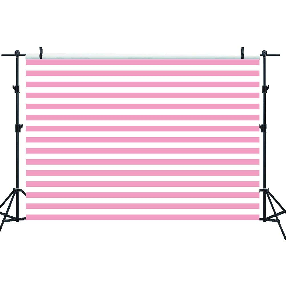Mehofoto Pink and White Stripes Backdrops Birthday Party Wedding Decoration 7x5ft Newborn Artistic Portrait Photography Backdrops