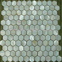Hexagonal mother of pearl shell mosaic tile for bathroom