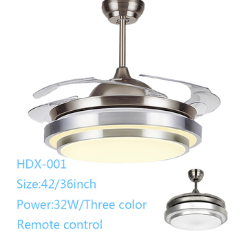 High quality 42 inch 36W LED wall controlled ceiling fan with light
