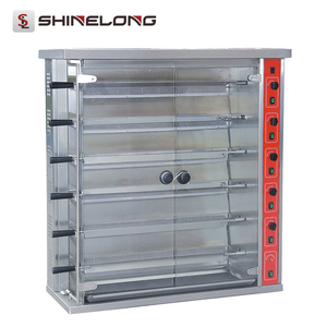 China manufacturer 6-Layer auto rotisserie stainless steel gas chicken rotisserie for sale