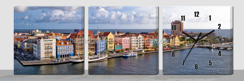 3 Panel Art Wall Clock 3 Panel Art Wall Clock Suppliers and