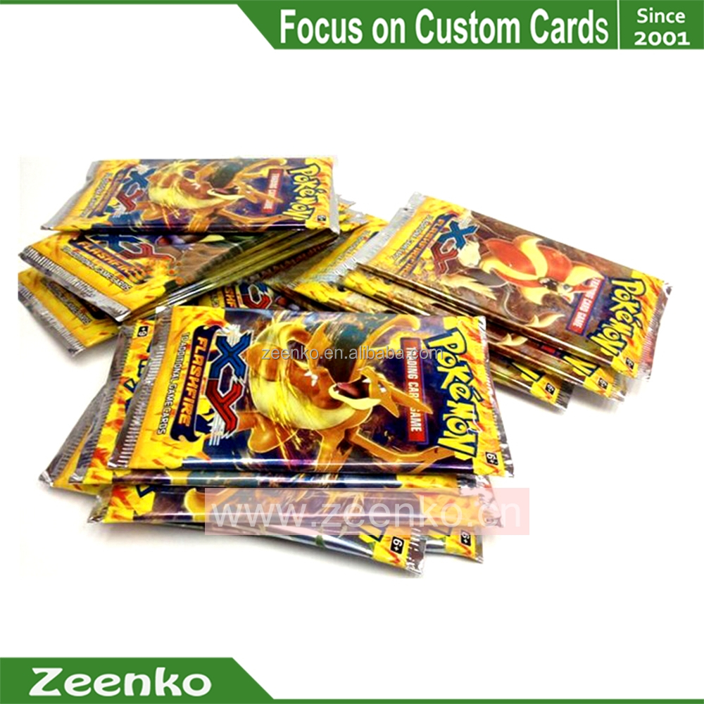 E046 Standard size or custom Foil cards playing cards with foil bag aluminium foil bag cards
