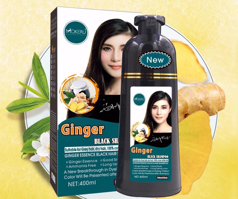 400ml Black Hair Dye Shampoo Organisches Pflanzenserum Für Natürliches  Schwarzes Haarfärbemittel - Buy Schwarz Haar Shampoo,Schwarz Haar Farbstoff  ...