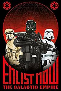 """Star Wars: Rogue One - Movie Poster / Print (Enlist Now - The Galactic Empire) (Size: 24"""" x 36"""") (By POSTER STOP ONLINE)"""