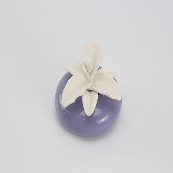 Ceramic Aroma Stone flower Bottle Reed Diffuser For Home Decor