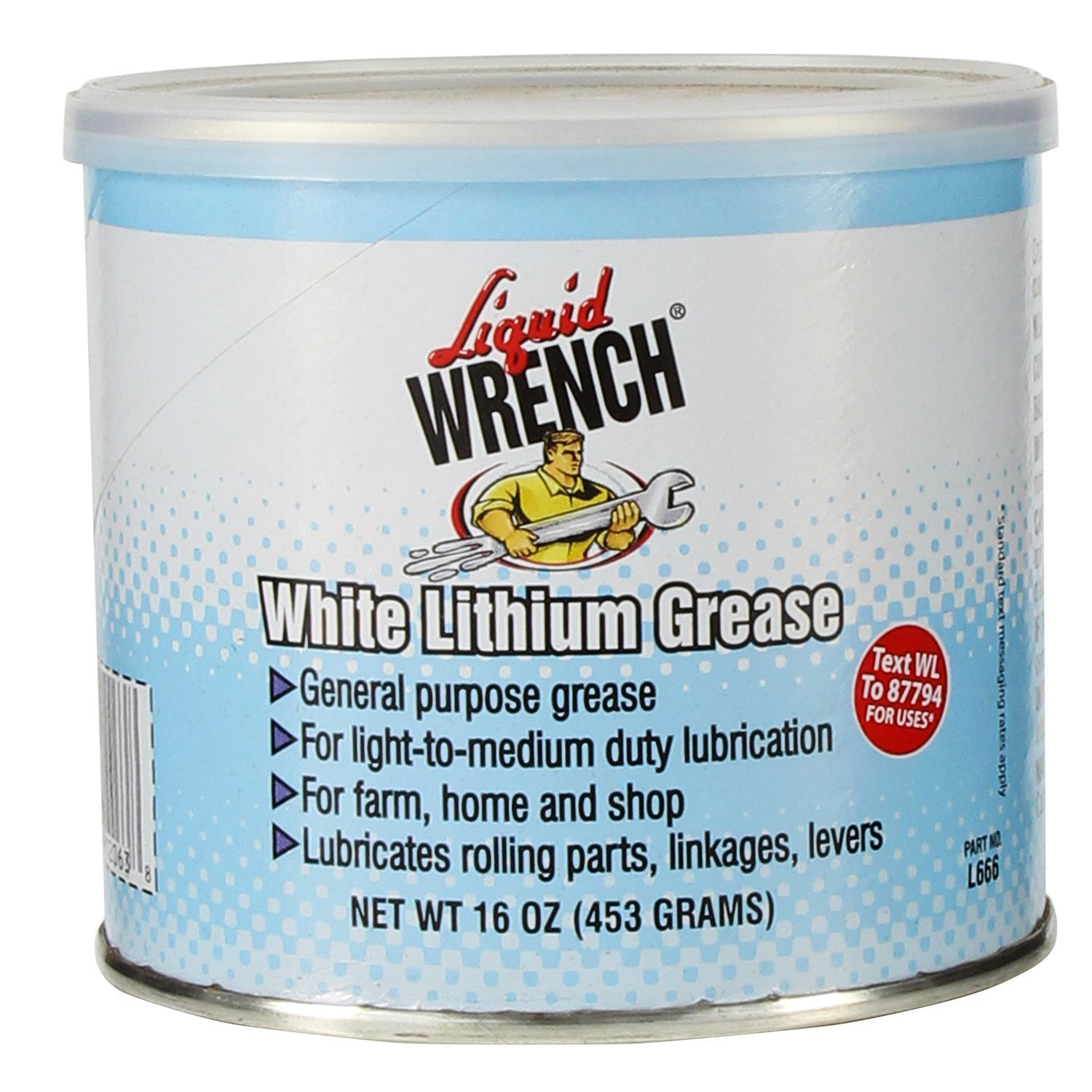 Liquid Wrench L666-12PK White Lithium Grease - 16 oz., (Case of 12)