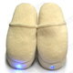 Electric Vibrating Shoes Foot Massage Slippers with LED Light