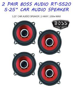 (2-PAIR) 4 Speakers Boss RT-5520 5.25-Inch 2-Way Coaxial 200-watt Car Stereo Audio Speakers Pair