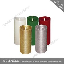 different color flameless tall pillar led candle