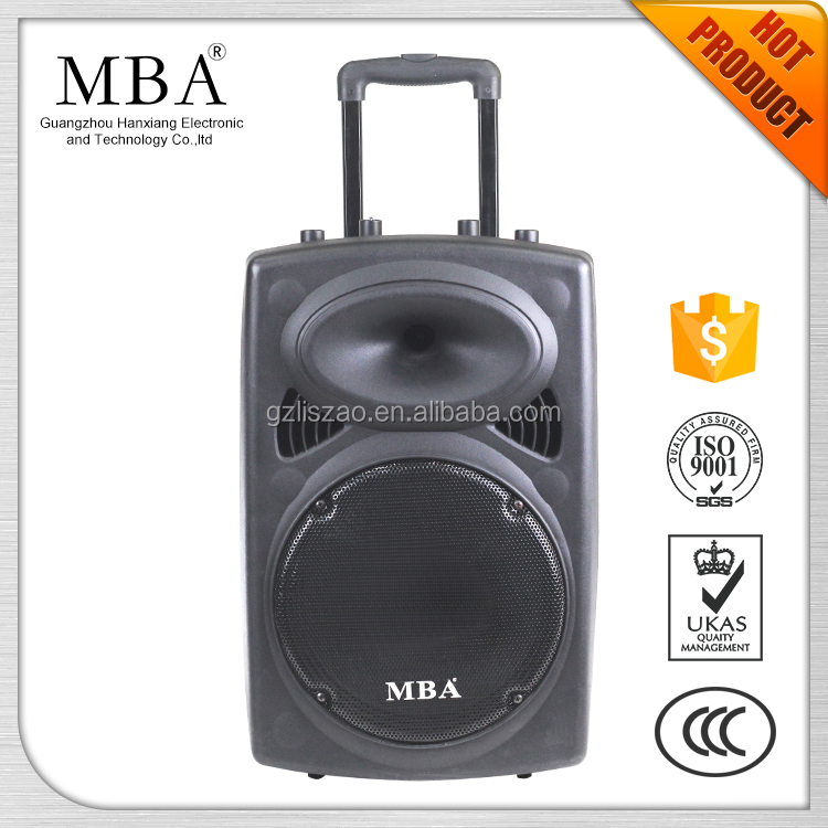 New products active wireless hanxiang 18 inch big speaker system