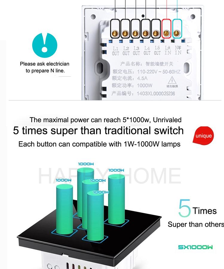 Neue Wallpad Weiß Wasserdicht Glas Smart Touch-screen Empfindlich ...