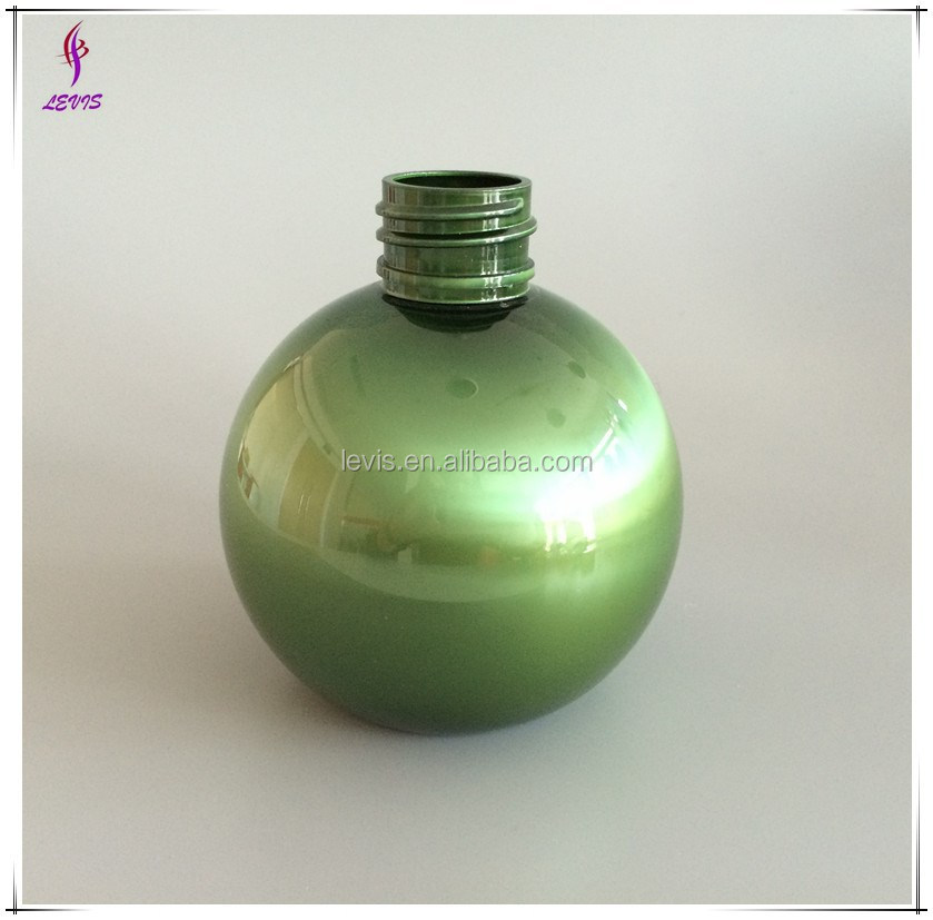 300ml empty green round shape bottle for cosmetic