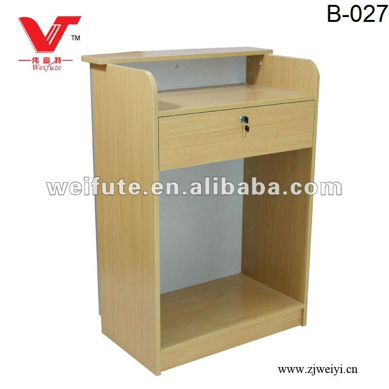 Wooden Small Reception Cash Counter
