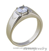 cubic zirconia men's 316l stainless steel engagement ring macys