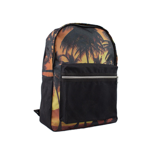 Promotional Custom Design Allover Printing Travel Use 600D Backpack