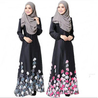 printing dubai abaya muslim islamic party arabic women dress