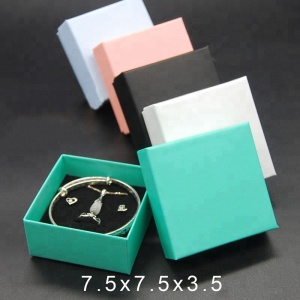 Factory Price Nice Colorful Paper Jewelry Box Case For Ring Pendant Bracelet