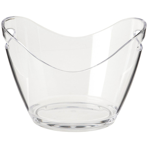 2019 Promotional beer clear acrylic Plastic ice bucket wholesale