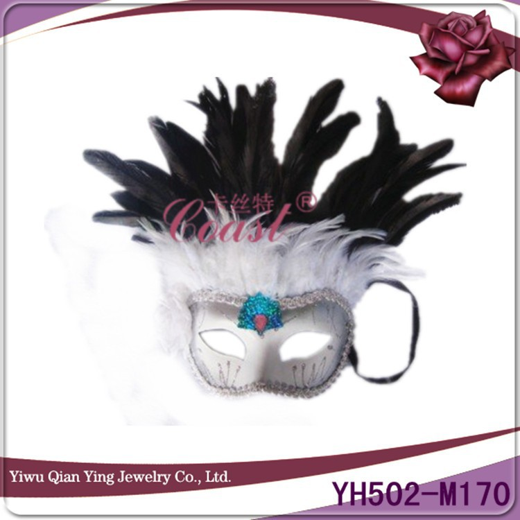 cheap smart& nice feather wedding party eye mask