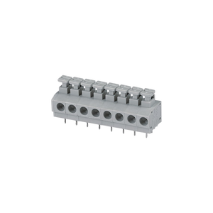 PCB push button screwless electrical clamp connector