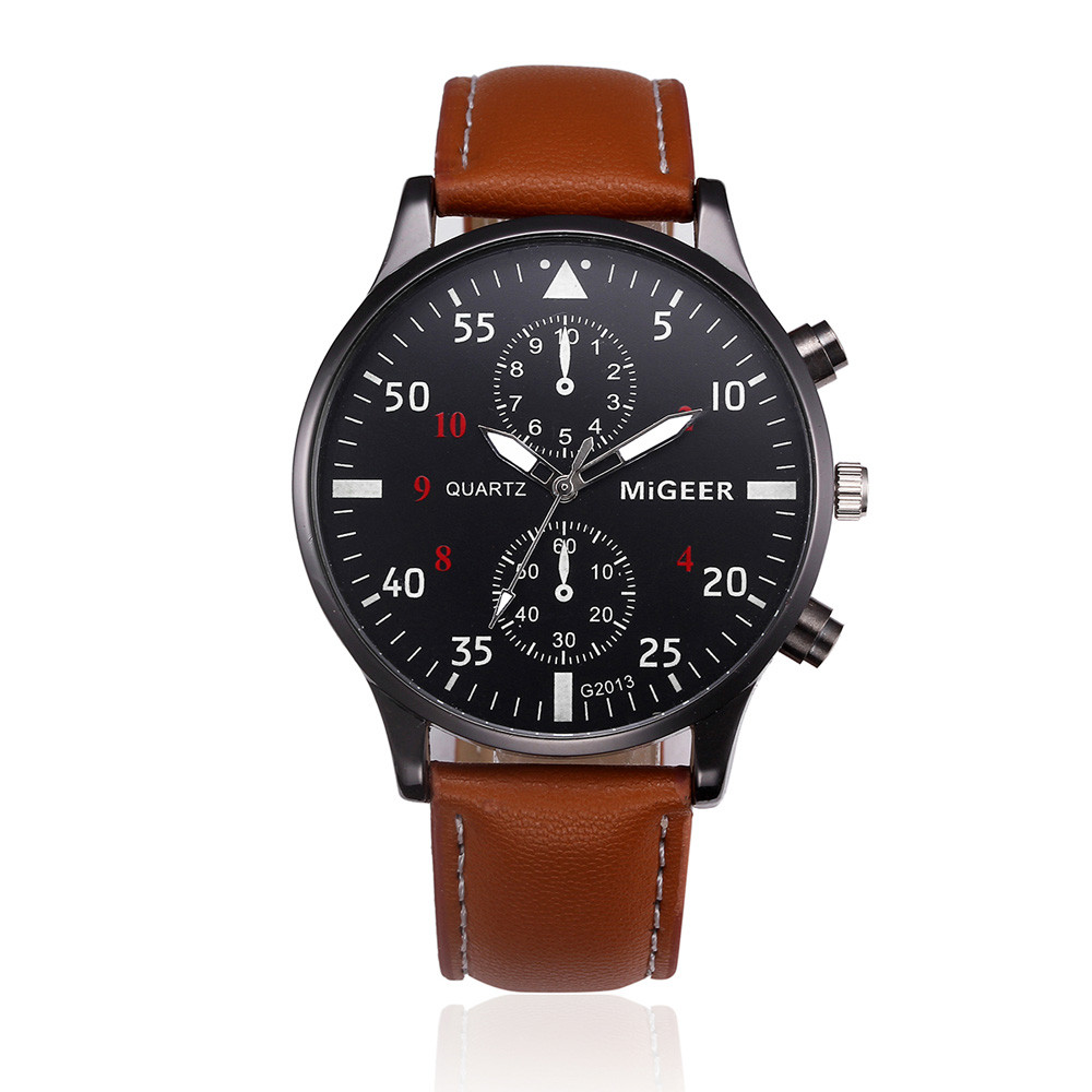 Ретро дизайн кожаный ремешок Часы Мужские лучший бренд Relogio Masculino 2019 новые aeProduct.getSubject()