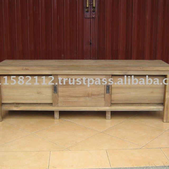 Recycled Teak TV Table