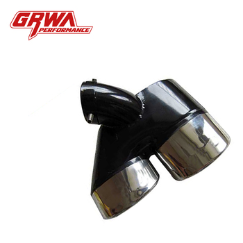 Grwa Modified Car Exhaust Angle Cut Dual Outlet Exhaust Stainless Steel Tips For Mercedes