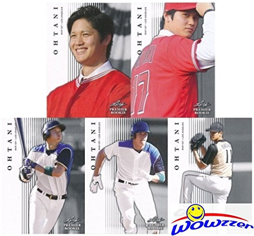SHOHEI OHTANI 2018 Leaf Premier Rookie EXCLUSIVE FIVE(5) Card ROOKIE Set Los Angeles Angels! Special Limited Edition MINT ROOKIE Set of Japan's Babe Ruth! Shipped in Ultra Pro Top Loaders! WOWZZER!
