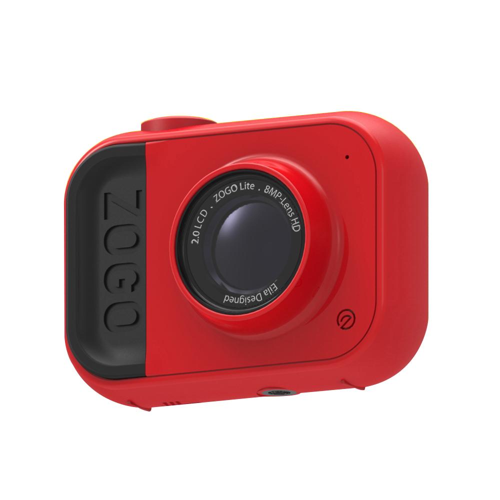 Zogo Lite Red Color Newest design Memory built inside 2.0 RGB Screen Kids digital video action camera фото