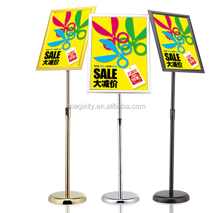 pedestal base sign holder size 8.5*11 menu display stand