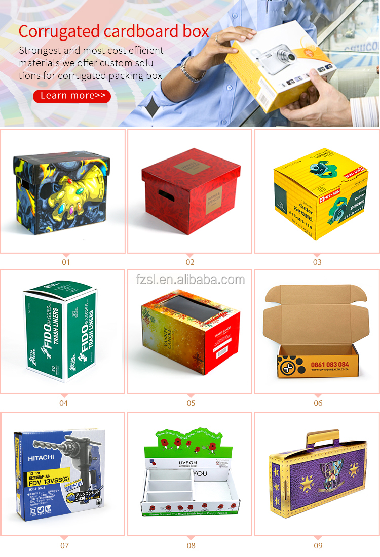 Yellow color PDQ display box for gift custom printing