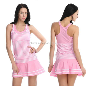 Wholesale Cheap Summer Beachwear Womens Tankini Striped Vintage Swim Dress For Sweet Young Sexy Girl Models