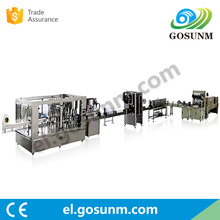 Professional Machinery Manufacturer Gosunm pure water bottle rinsing filling capping sealing sleeve labeling machine