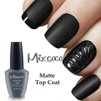 Mixcoco Nail Spa Salon Matt Top Coat Gel Soak Off Matte Nail Polish ...