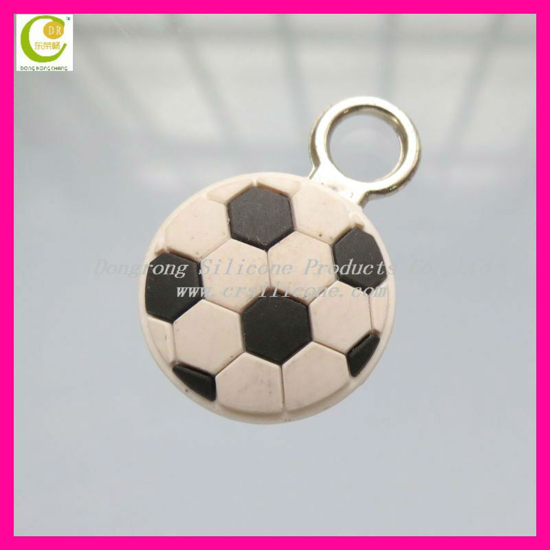 Famous brand leather products round pvc personalized zipper pulls